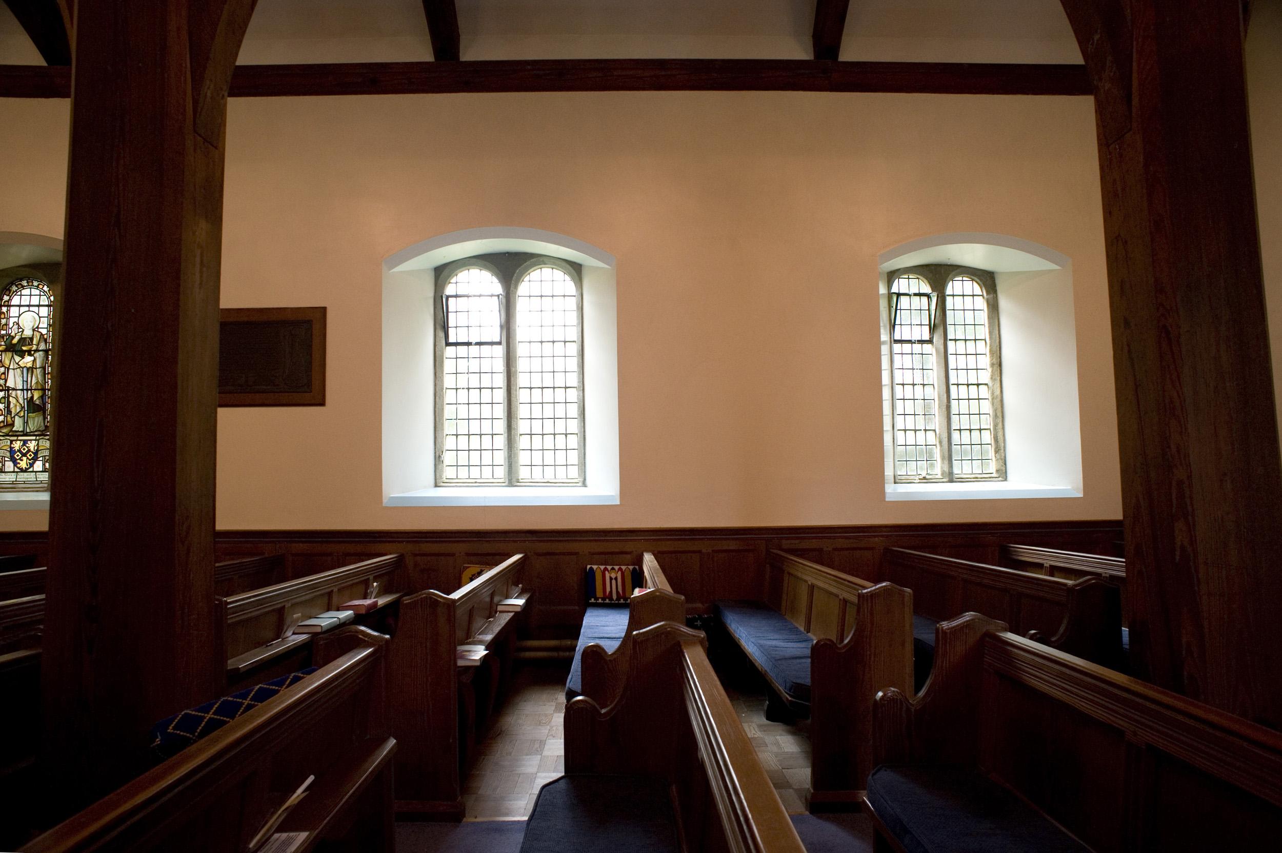 Empty Church Pews Creative Commons Stock Image